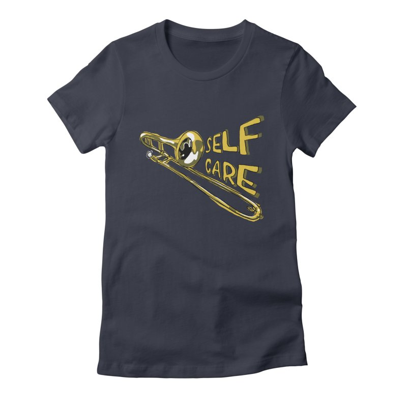 SELF CARE Women's Fitted T-Shirt by Wander Lane Threadless Shop