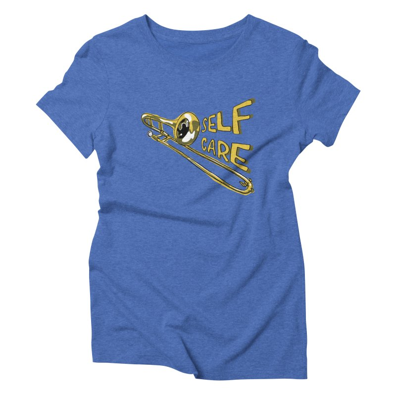 SELF CARE Women's Triblend T-Shirt by Wander Lane Threadless Shop