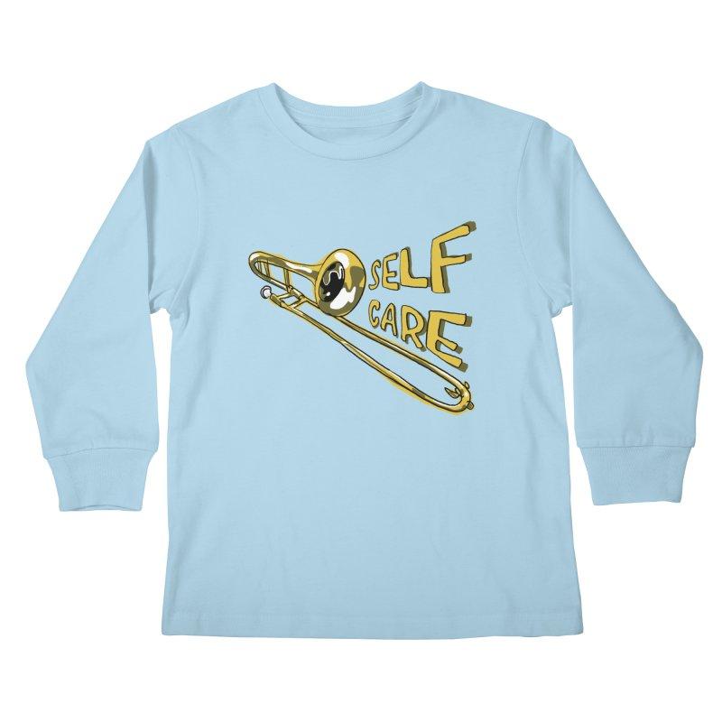 SELF CARE Kids Longsleeve T-Shirt by Wander Lane Threadless Shop