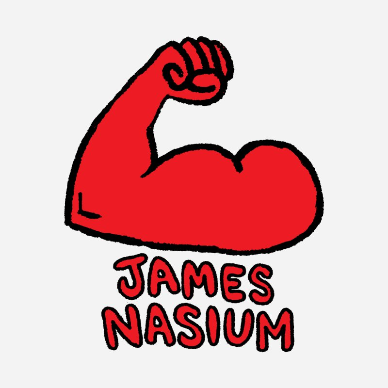 James Nasium Red by Wander Lane Threadless Shop