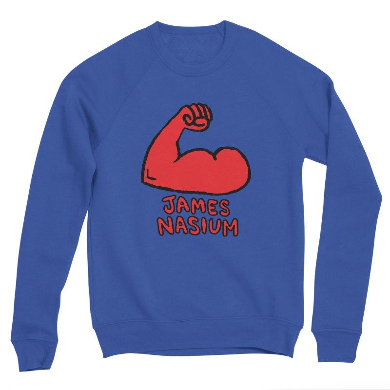 James Nasium Red Women's Sponge Fleece Sweatshirt by Wander Lane Threadless Shop