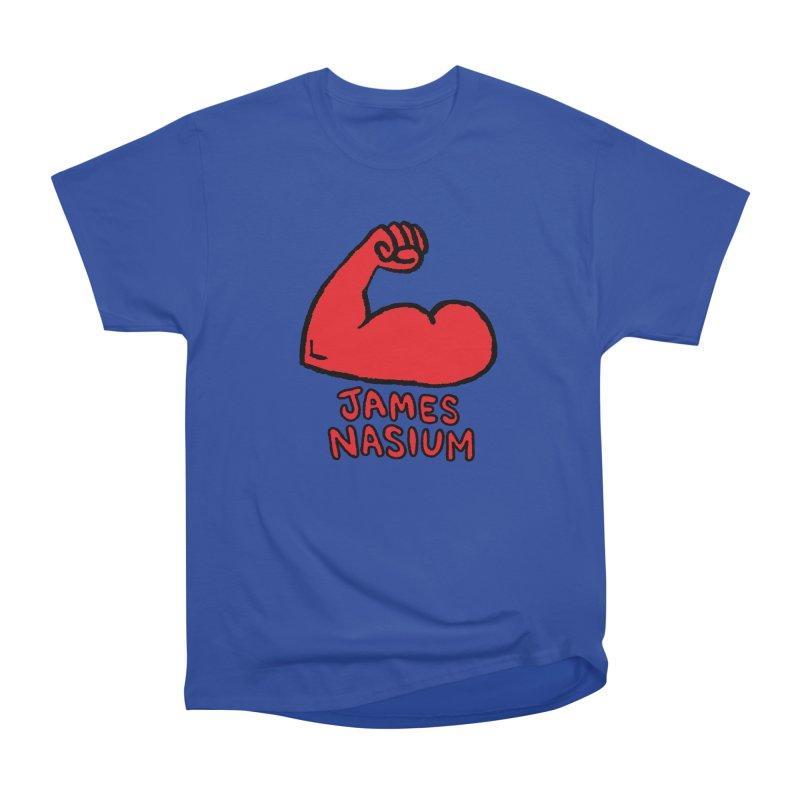 James Nasium Red Men's Heavyweight T-Shirt by Wander Lane Threadless Shop
