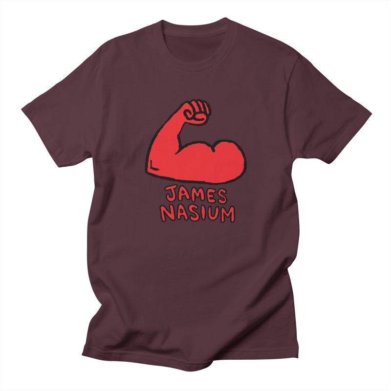 James Nasium Red Women's Regular Unisex T-Shirt by Wander Lane Threadless Shop