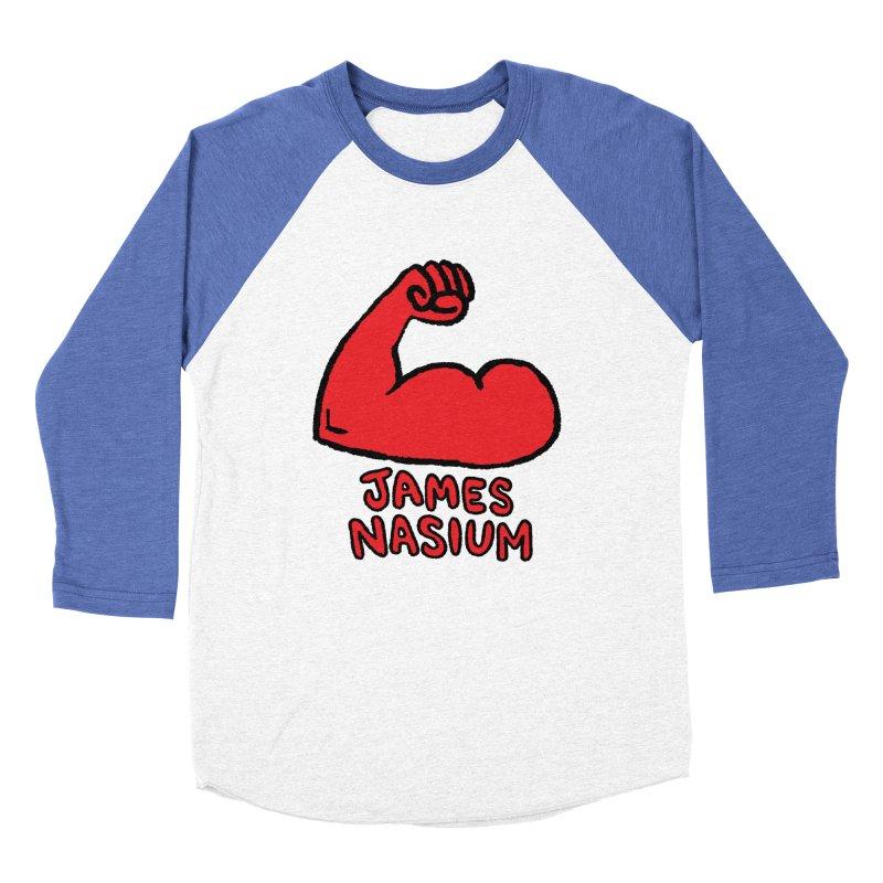 James Nasium Red Women's Baseball Triblend Longsleeve T-Shirt by Wander Lane Threadless Shop
