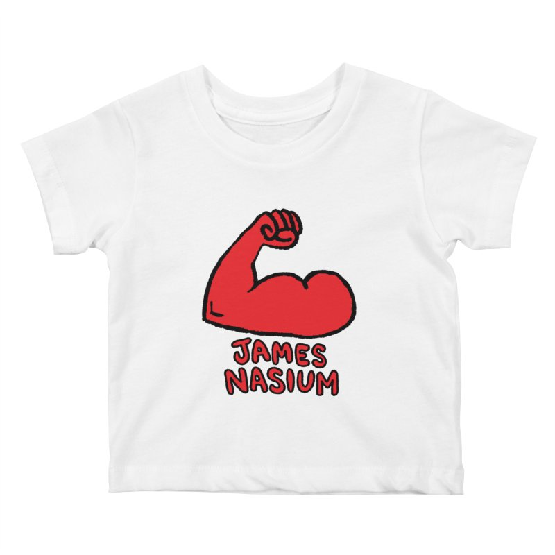 James Nasium Red Kids Baby T-Shirt by Wander Lane Threadless Shop