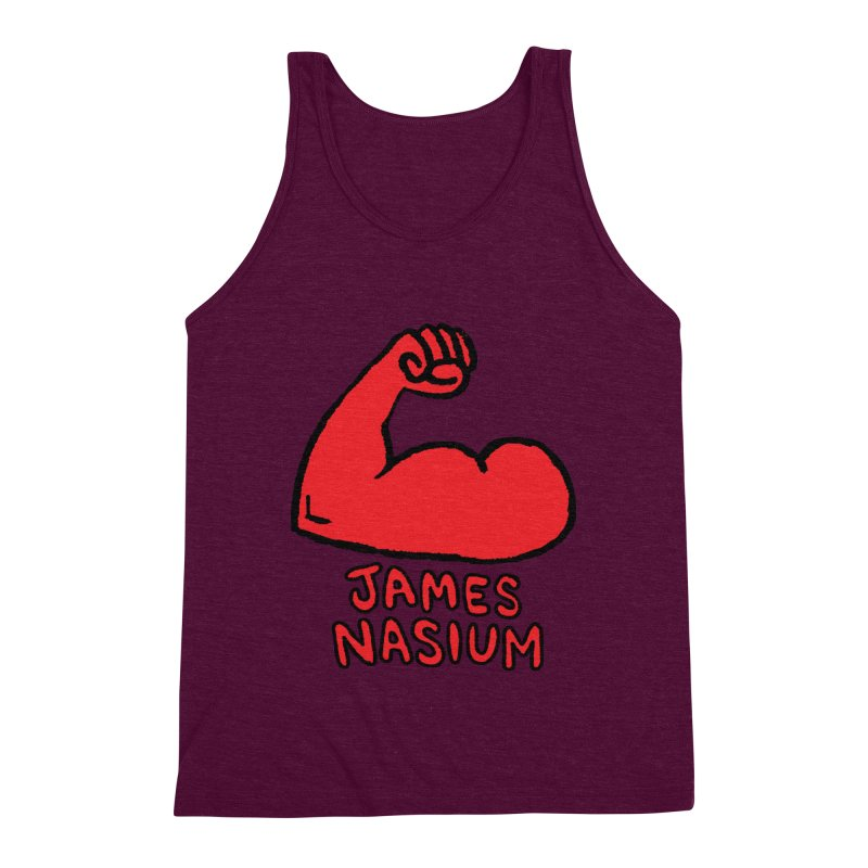 James Nasium Red Men's Triblend Tank by Wander Lane Threadless Shop
