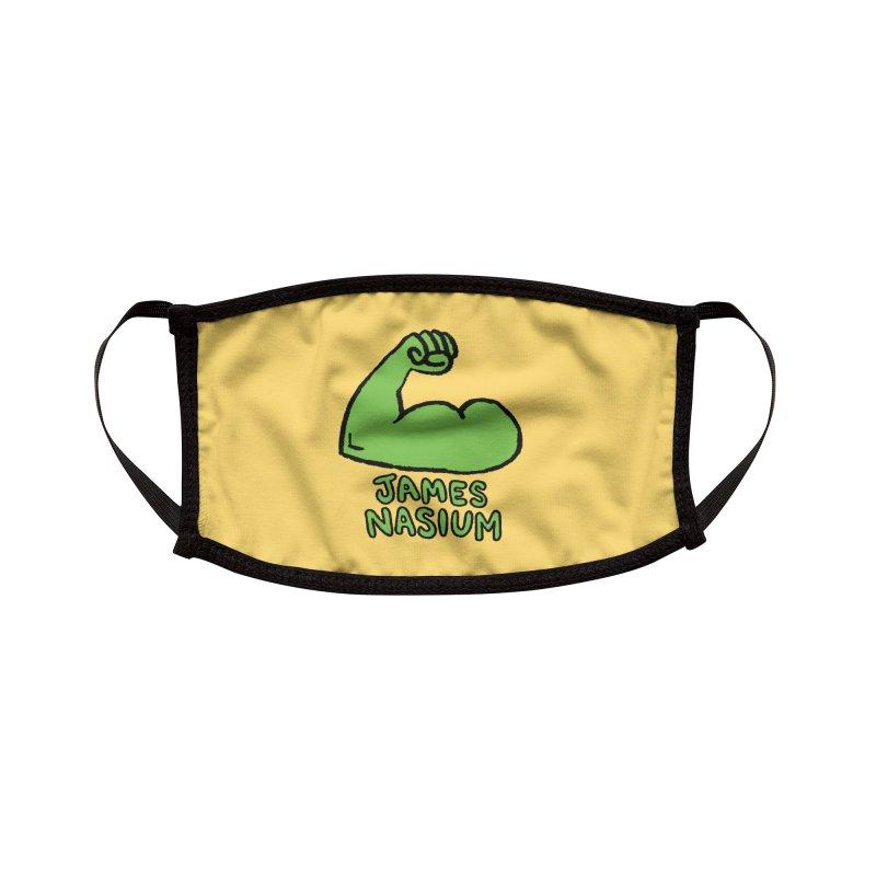 James Nasium Green Accessories Face Mask by Wander Lane Threadless Shop