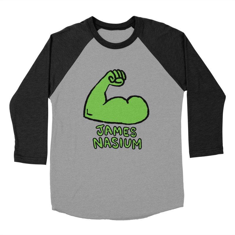 James Nasium Green Men's Baseball Triblend Longsleeve T-Shirt by Wander Lane Threadless Shop