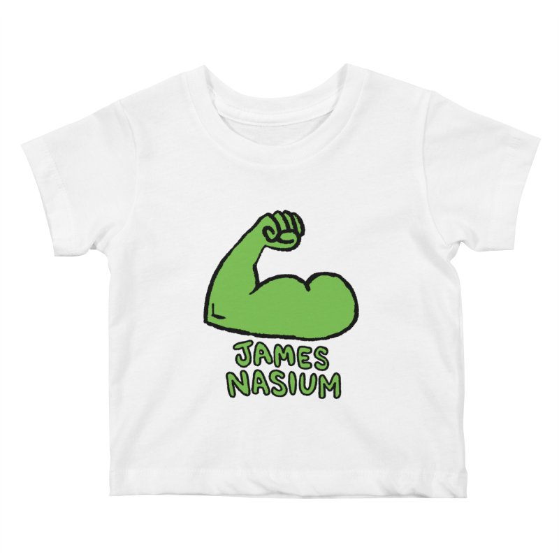 James Nasium Green Kids Baby T-Shirt by Wander Lane Threadless Shop