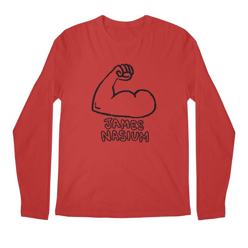 James Nasium Line Art Men's Regular Longsleeve T-Shirt by Wander Lane Threadless Shop