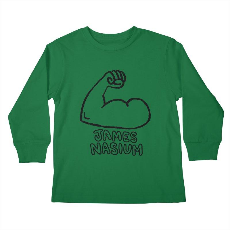 James Nasium Line Art Kids Longsleeve T-Shirt by Wander Lane Threadless Shop