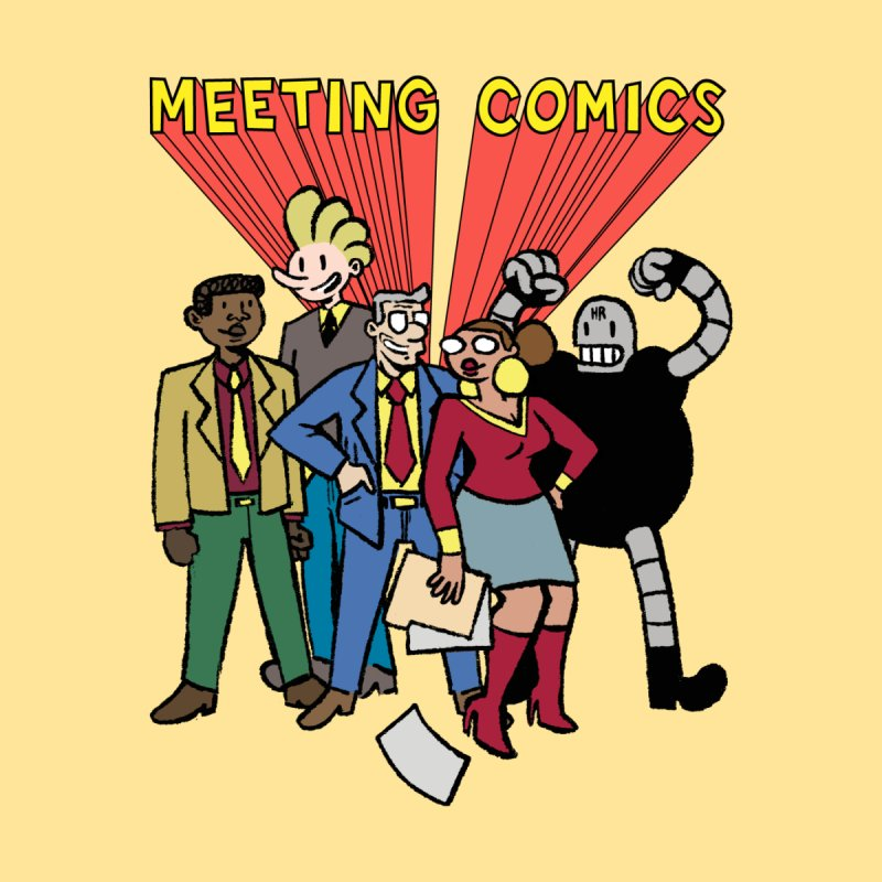 Meeting Comics Cast Men's T-Shirt by Wander Lane Threadless Shop