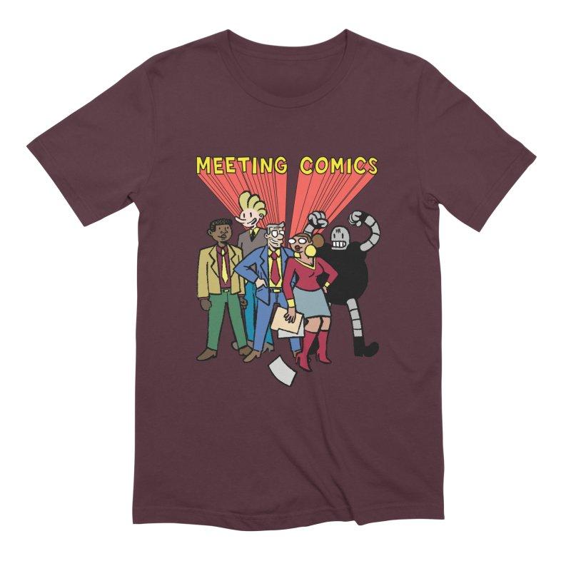Meeting Comics Cast Men's Extra Soft T-Shirt by Wander Lane Threadless Shop