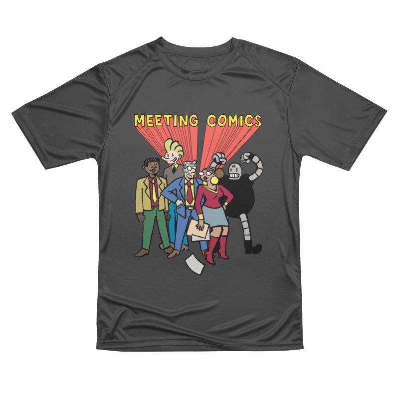 Meeting Comics Cast Women's Performance Unisex T-Shirt by Wander Lane Threadless Shop