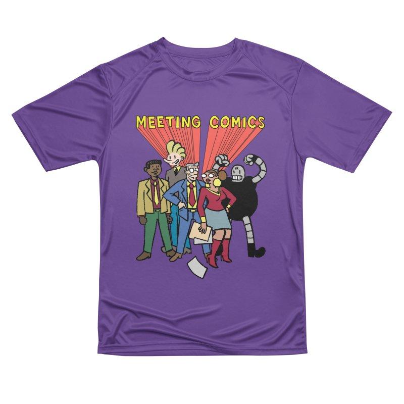 Meeting Comics Cast Men's Performance T-Shirt by Wander Lane Threadless Shop
