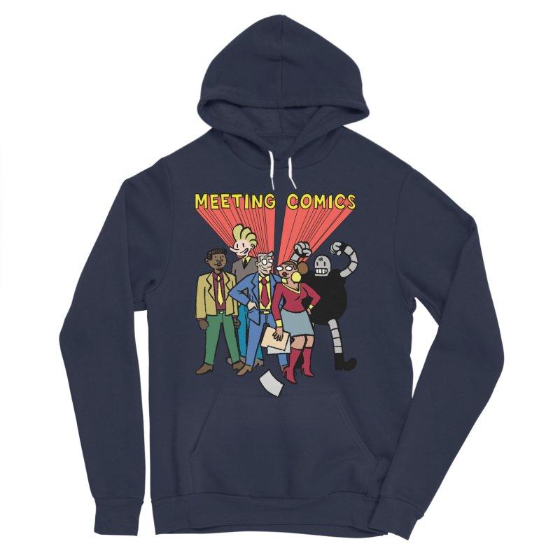 Meeting Comics Cast Women's Sponge Fleece Pullover Hoody by Wander Lane Threadless Shop