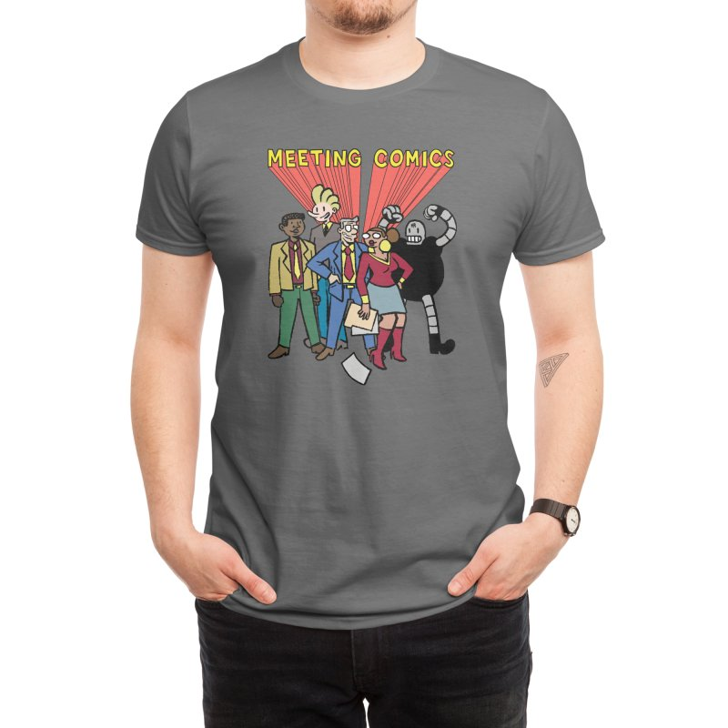 Meeting Comics Cast Men's T-Shirt by Wander Lane Threadless Shop