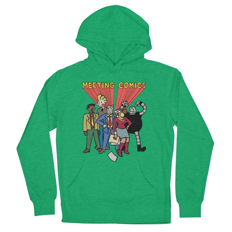 Meeting Comics Cast Men's French Terry Pullover Hoody by Wander Lane Threadless Shop