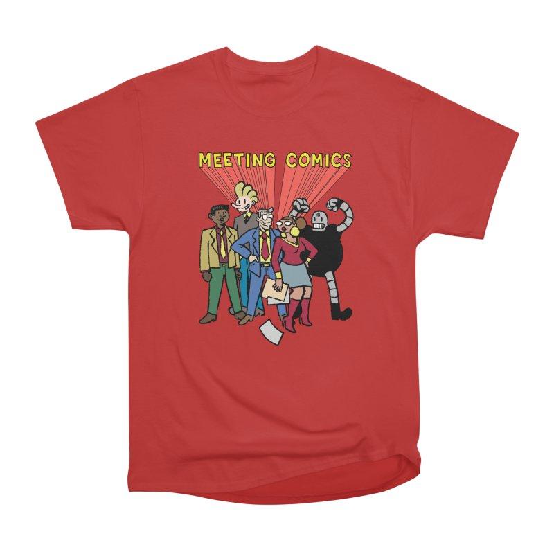 Meeting Comics Cast Men's Heavyweight T-Shirt by Wander Lane Threadless Shop