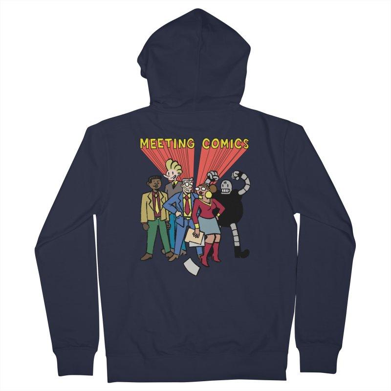 Meeting Comics Cast Men's French Terry Zip-Up Hoody by Wander Lane Threadless Shop
