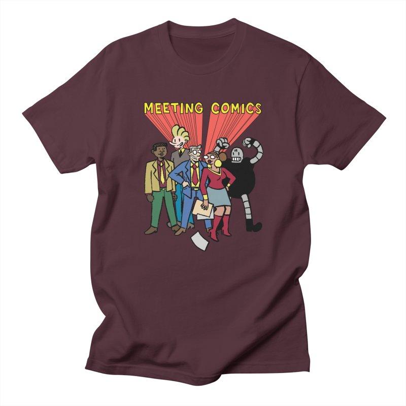 Meeting Comics Cast Women's Regular Unisex T-Shirt by Wander Lane Threadless Shop