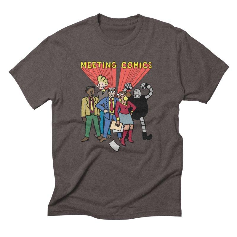 Meeting Comics Cast Men's Triblend T-Shirt by Wander Lane Threadless Shop