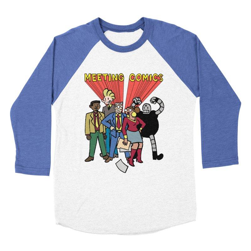 Meeting Comics Cast Women's Baseball Triblend Longsleeve T-Shirt by Wander Lane Threadless Shop