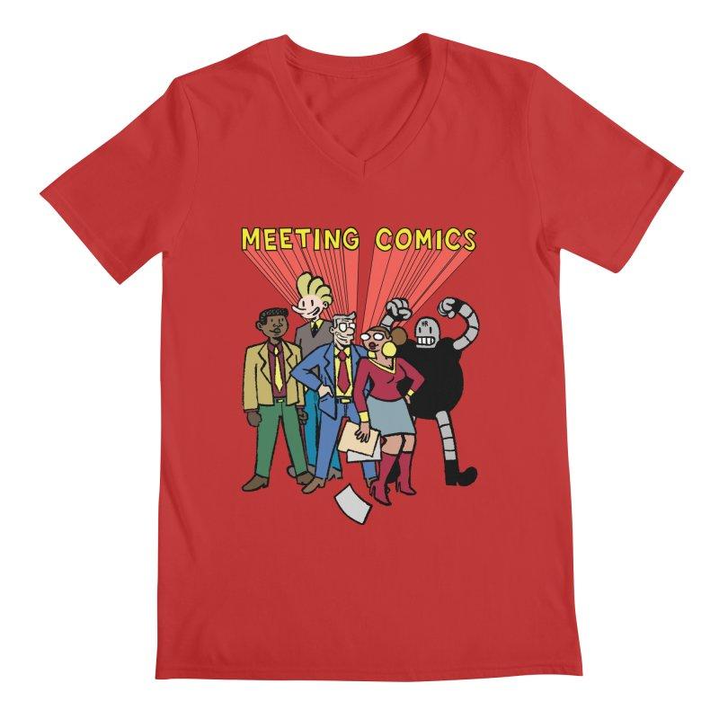 Meeting Comics Cast Men's Regular V-Neck by Wander Lane Threadless Shop
