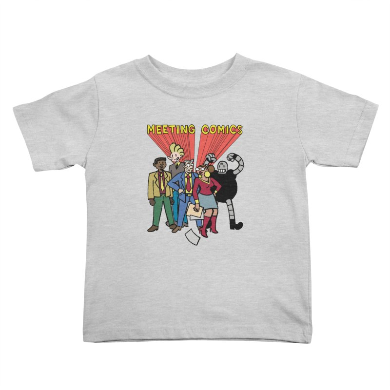 Meeting Comics Cast Kids Toddler T-Shirt by Wander Lane Threadless Shop