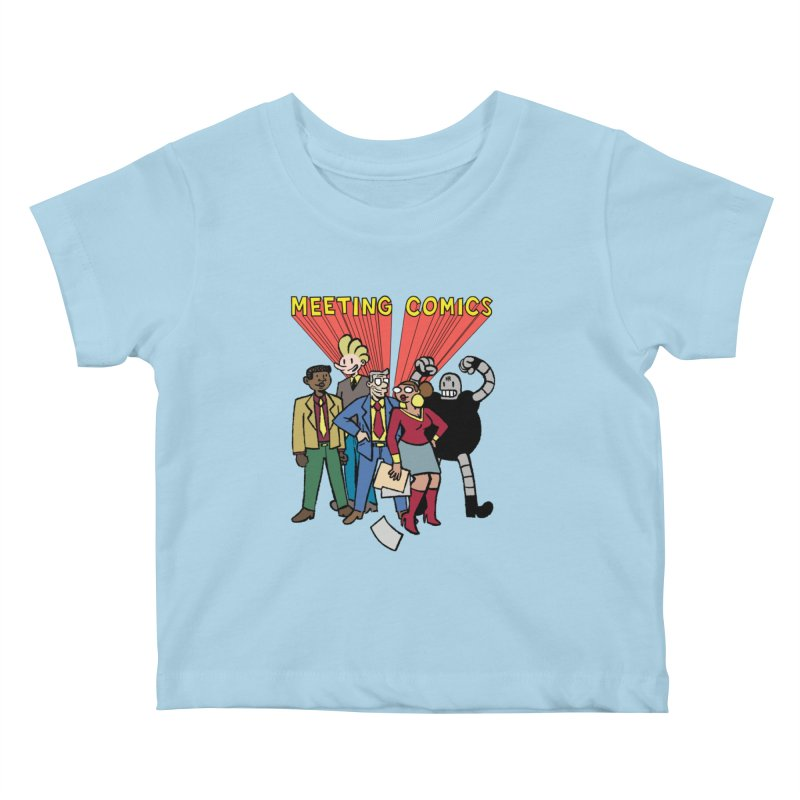 Meeting Comics Cast Kids Baby T-Shirt by Wander Lane Threadless Shop