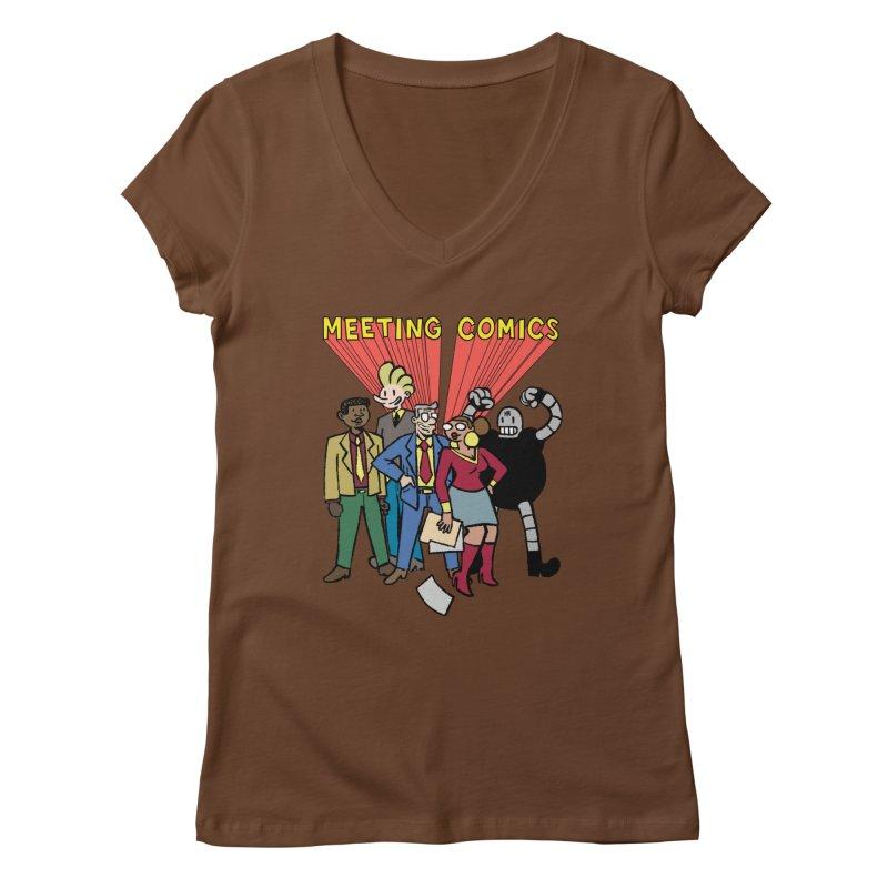 Meeting Comics Cast Women's V-Neck by Wander Lane Threadless Shop