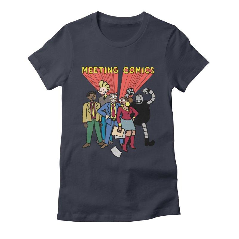 Meeting Comics Cast Women's Fitted T-Shirt by Wander Lane Threadless Shop
