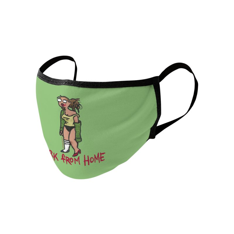Meeting Comics Val - Work From Home Accessories Face Mask by Wander Lane Threadless Shop