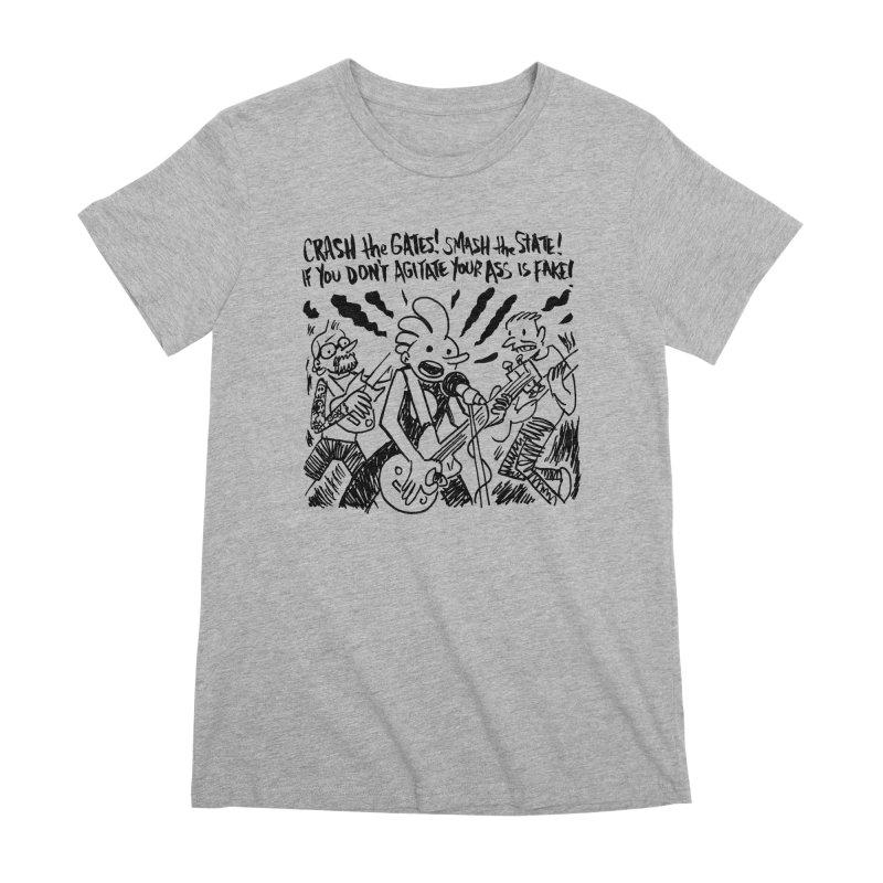 CRASH THE GATES Women's Premium T-Shirt by Wander Lane Threadless Shop