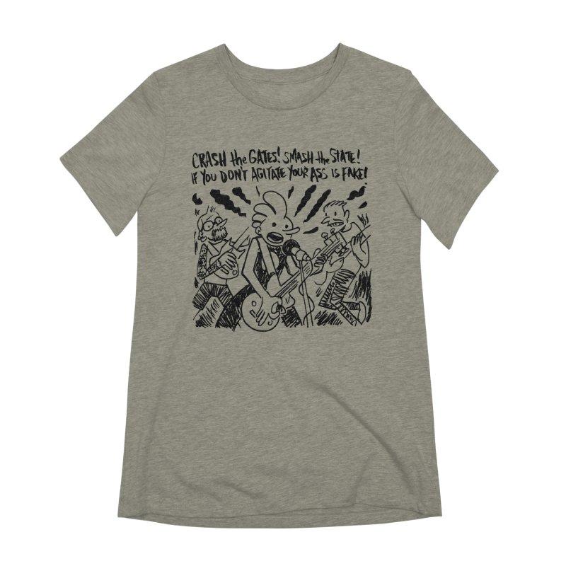 CRASH THE GATES Women's Extra Soft T-Shirt by Wander Lane Threadless Shop