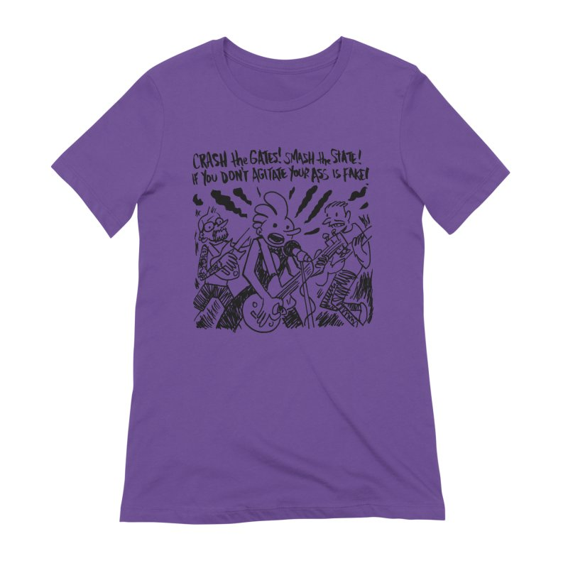 CRASH THE GATES Women's Extra Soft T-Shirt by Wander Lane Threadless Shop