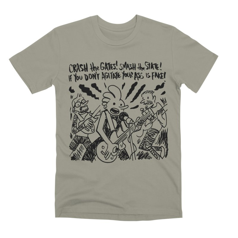 CRASH THE GATES Men's Premium T-Shirt by Wander Lane Threadless Shop