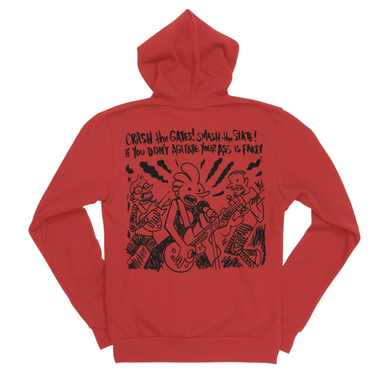 CRASH THE GATES Men's Sponge Fleece Zip-Up Hoody by Wander Lane Threadless Shop