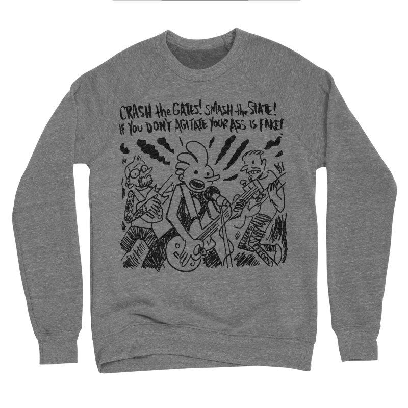 CRASH THE GATES Men's Sponge Fleece Sweatshirt by Wander Lane Threadless Shop