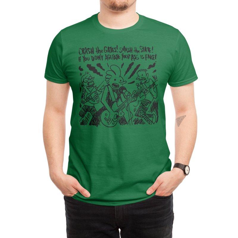 CRASH THE GATES Men's T-Shirt by Wander Lane Threadless Shop