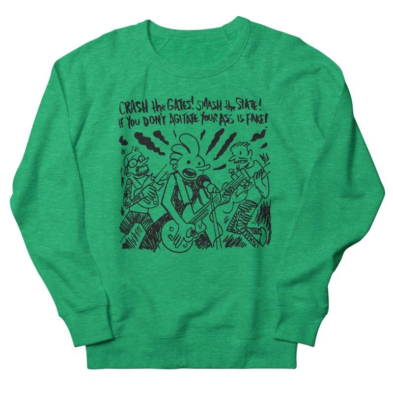 CRASH THE GATES Women's French Terry Sweatshirt by Wander Lane Threadless Shop