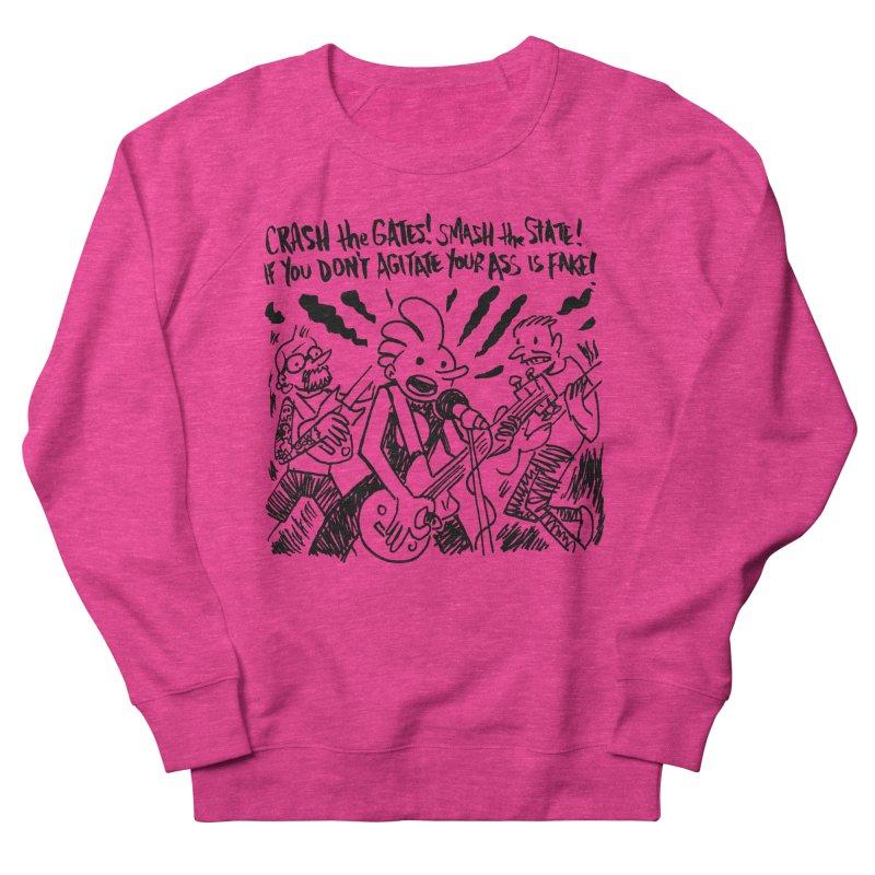 CRASH THE GATES Men's French Terry Sweatshirt by Wander Lane Threadless Shop