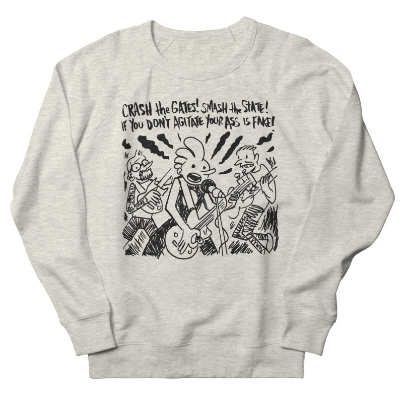 CRASH THE GATES Men's French Terry Sweatshirt by Wander Lane Threadless Shop