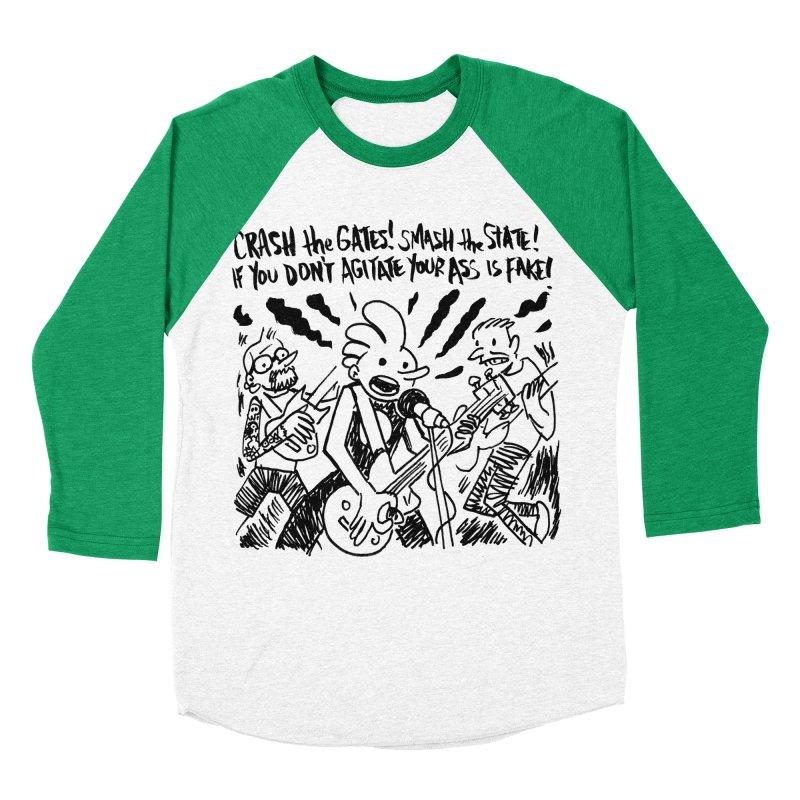 CRASH THE GATES Men's Baseball Triblend Longsleeve T-Shirt by Wander Lane Threadless Shop