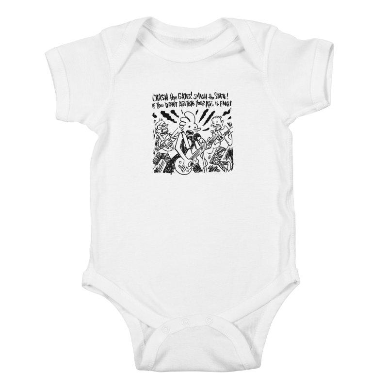 CRASH THE GATES Kids Baby Bodysuit by Wander Lane Threadless Shop