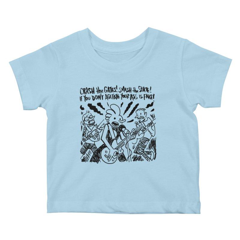 CRASH THE GATES Kids Baby T-Shirt by Wander Lane Threadless Shop