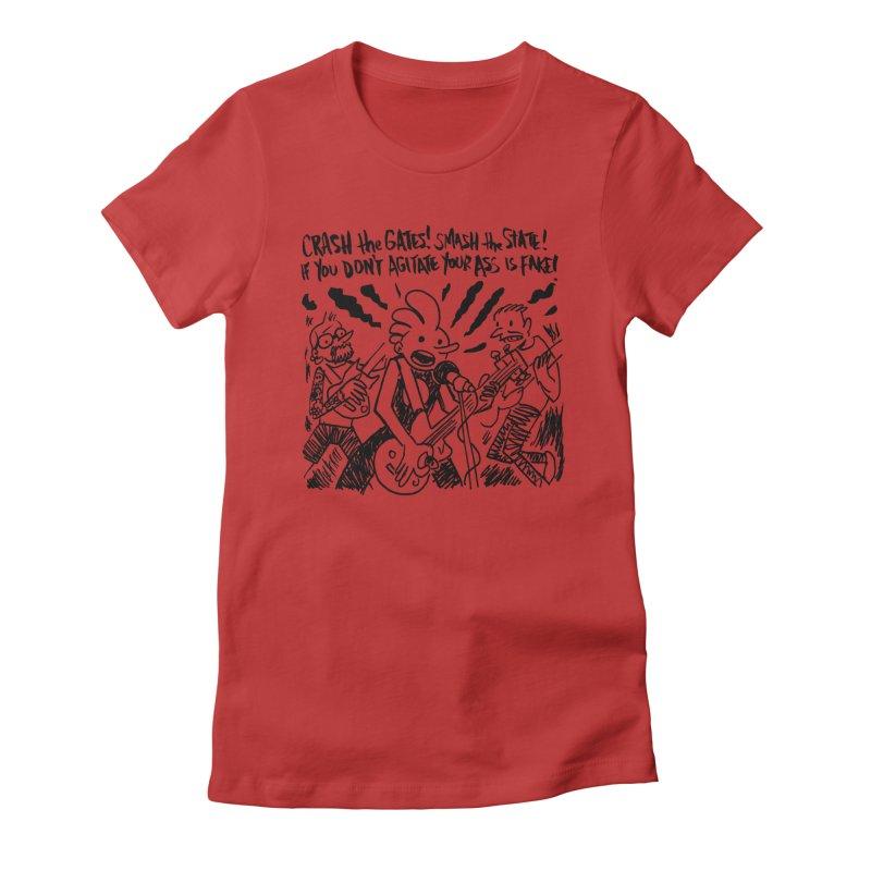 CRASH THE GATES Women's Fitted T-Shirt by Wander Lane Threadless Shop