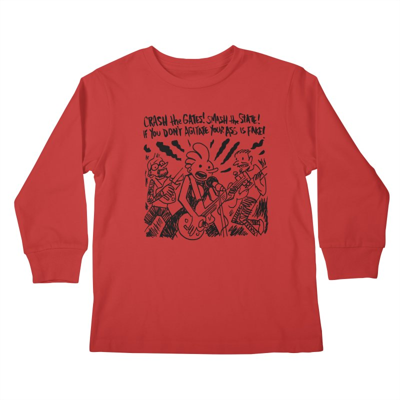 CRASH THE GATES Kids Longsleeve T-Shirt by Wander Lane Threadless Shop