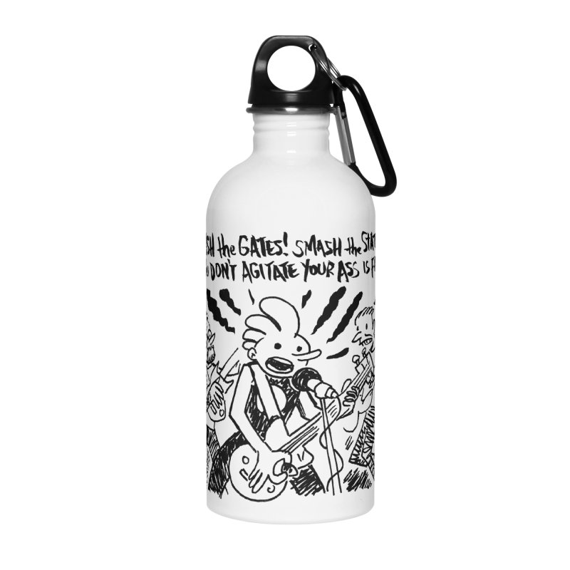 CRASH THE GATES Accessories Water Bottle by Wander Lane Threadless Shop