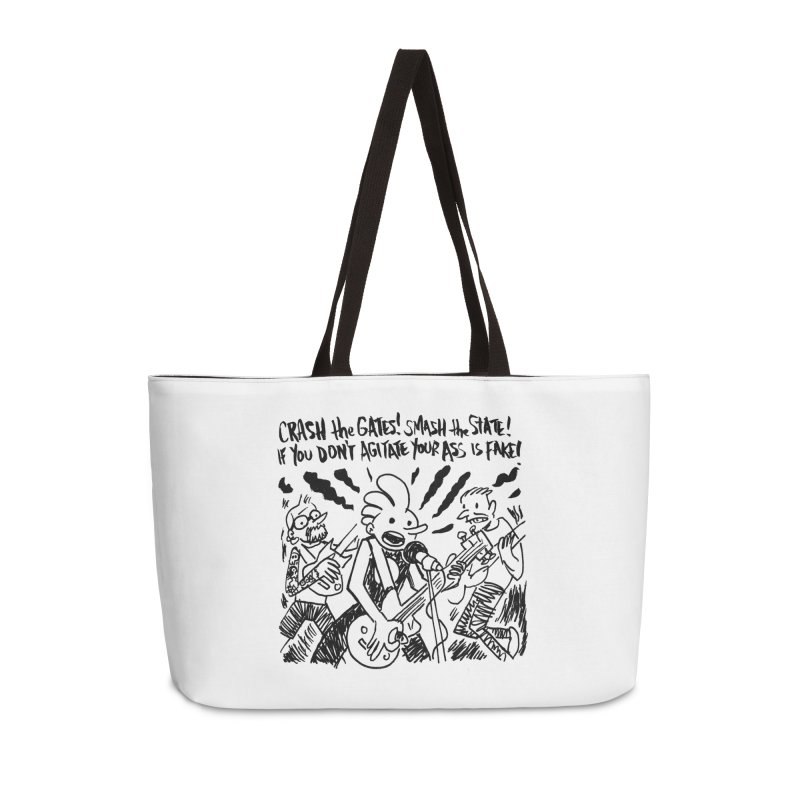 CRASH THE GATES Accessories Weekender Bag Bag by Wander Lane Threadless Shop